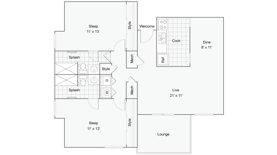 Floor Plan Image | 400 Winchester Apartments for Rent Vinings GA 30339