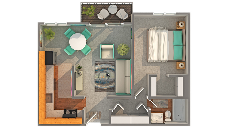 Floor Plan Layout | ReNew Aurora Apartment Homes for Rent in Aurora IL 60506