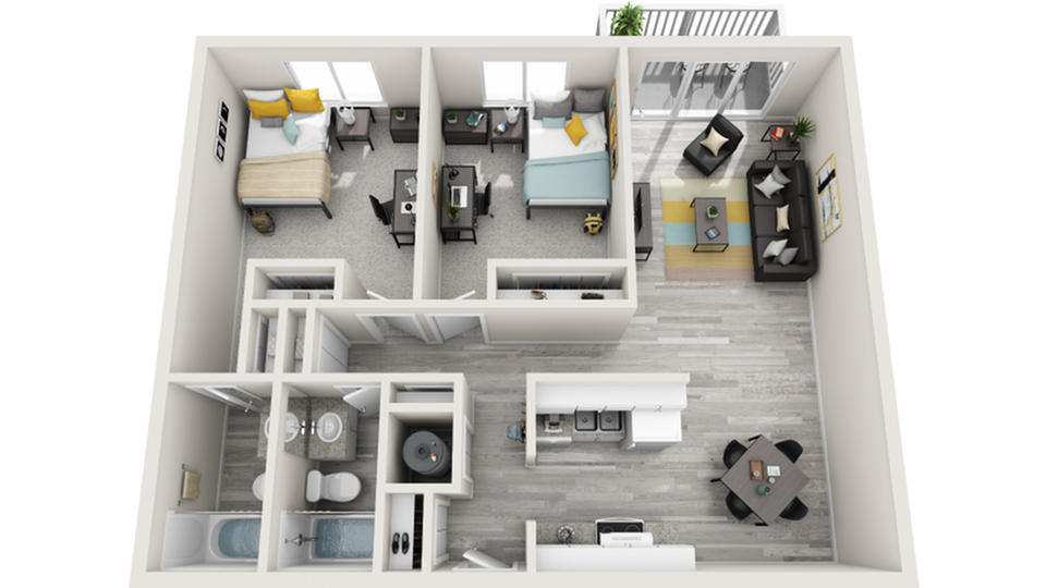 Floor Plan | The Social West Ames Apartment Homes for Rent in Ames IA 50014