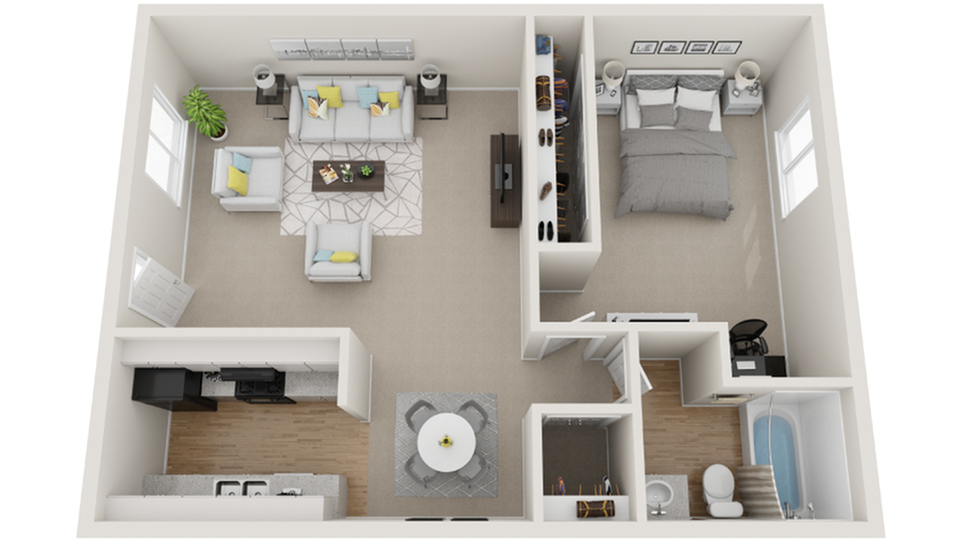 Floor Plan Image | Dwell Apartment Homes Apartments For Rent Riverside CA 92507
