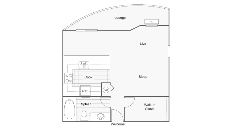 Floor Plan Image | The Social West Apartment Homes for Rent in Fort Collins CO 80521