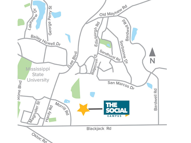 Location of The Social Campus