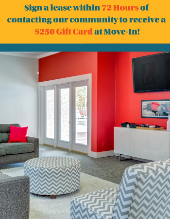 The lifestyle you want is waiting at The Social Tallahassee!  Sign a lease within 72 hours of contacting our community and receive a $250 Gift Card!