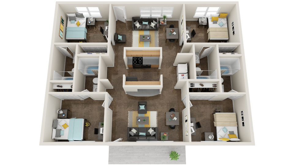 Floor Plan Layout   The Social SMTX Apartment Homes for Rent in San Marcos TX 78666