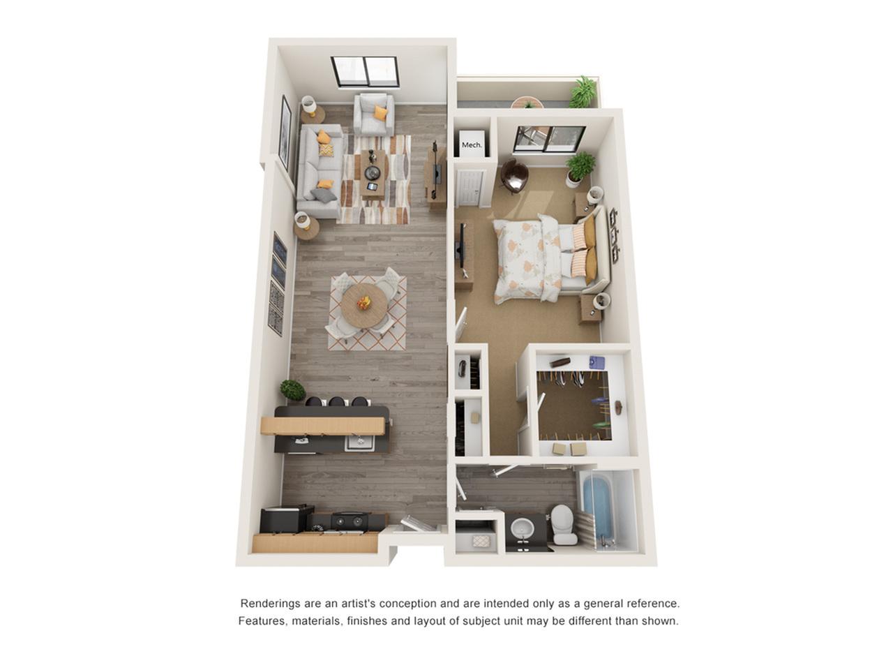 Floor Plan 1 | Alexandria VA Apartments | Arrive Alexandria