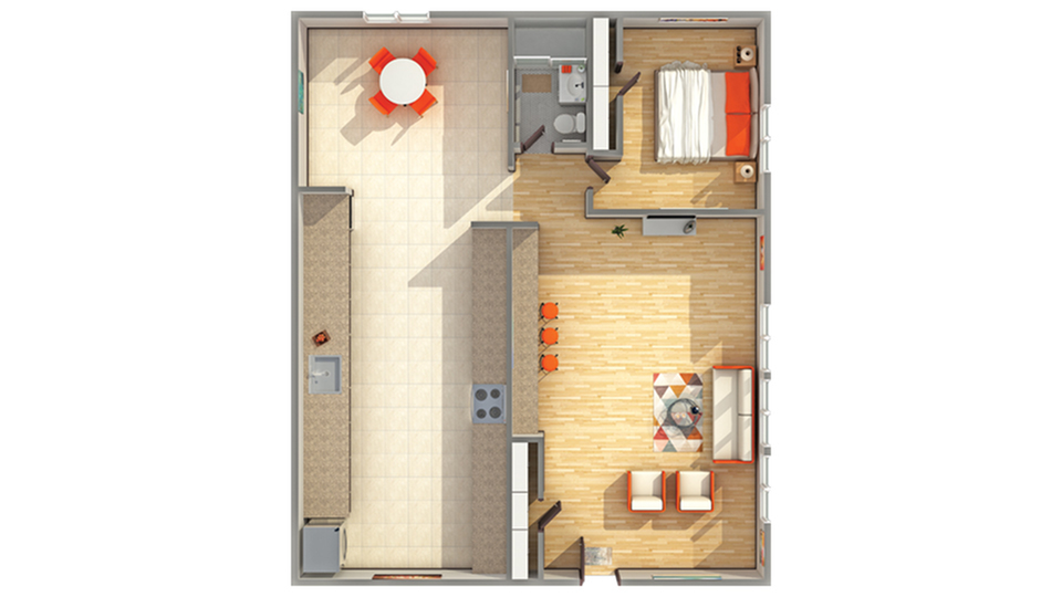 Floor Plan Layout | Cambridge Manor Apartment Homes for Rent in Milwaukee WI 53202