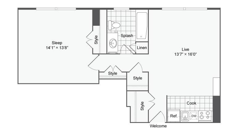 Floor Plan Image | Apartments Near Johns Hopkins | The Social North Charles