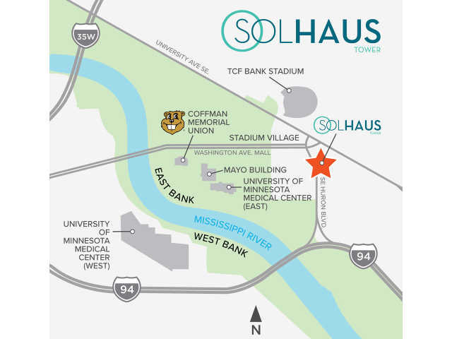 Solhaus Tower Map