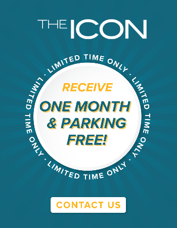 Receive ONE MONTH FREE or a $750 Gift Card when you sign a 17-month lease today! All fees WAIVED and FREE garage parking for a limited time.