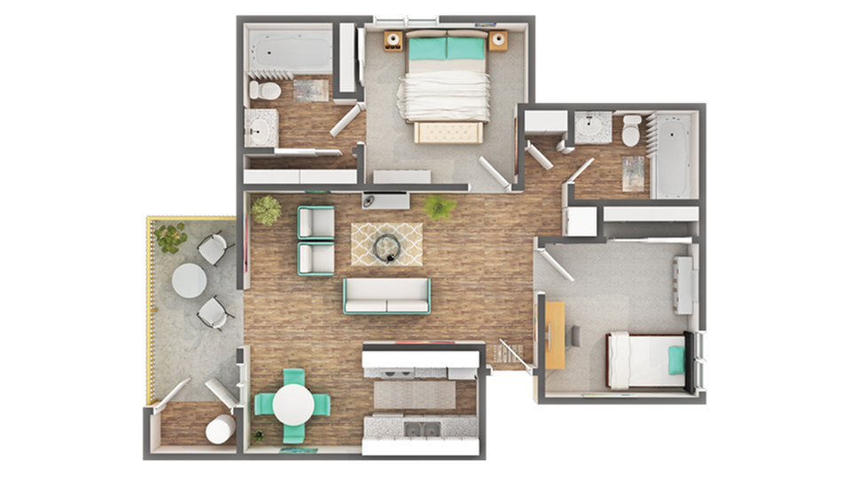 Floor Plan Layout | ReNew on Sunset Apartment Homes for Rent in Suisan City CA 94585