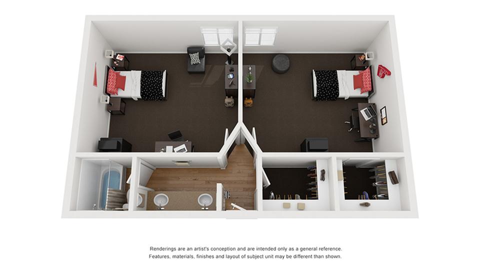 Floor Plan Image | Apartments Near CSU Chico | The Social Chico