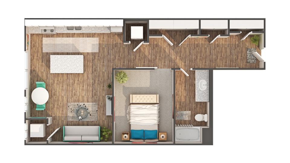 Floor Plan Image | Arrive Loring Park