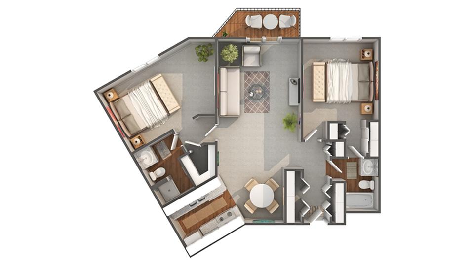 Floor Plan Image | Arrive 4301