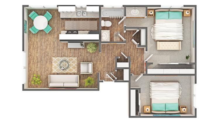 Floor Plan Layout | ReNew Carmichael Apartment Homes for Rent in Carmichael CA 95608