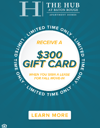 For a limited time we are waiving our Admin and Application fees and giving Fall Move-In's a $300 gift card! Contact the office for availability or start an application today.