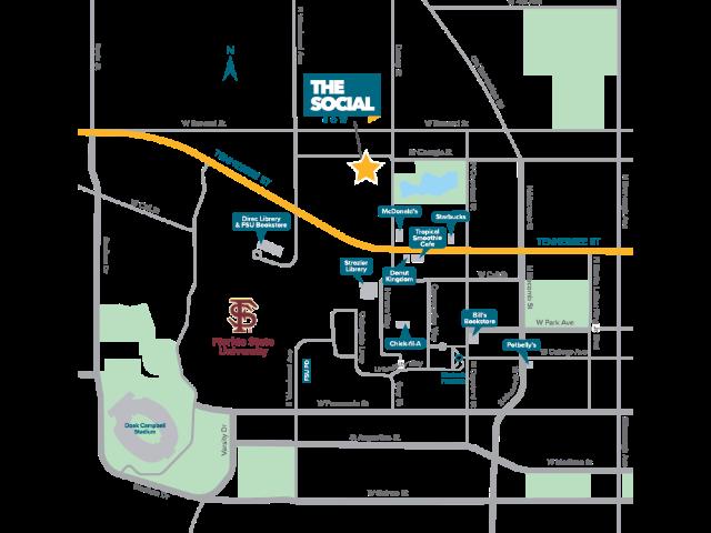 Location of The Social Row
