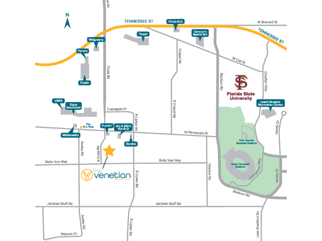 Location of The Venetian Student Living