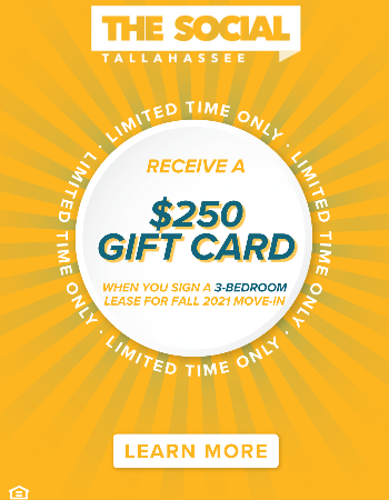 Sign a lease for a 3-bedroom floor plan and receive a $250 Gift Card after move-in! Plus, waived App & Admin fees.
