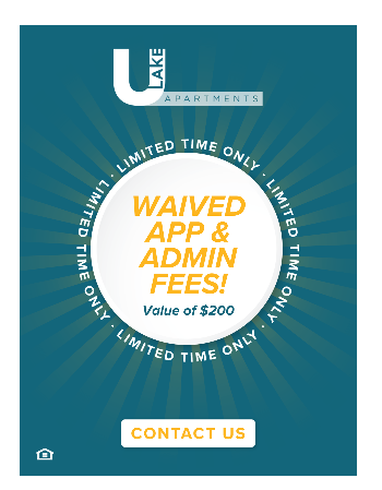Sign a lease for Waived App and Admin Fee's! $200 Value!