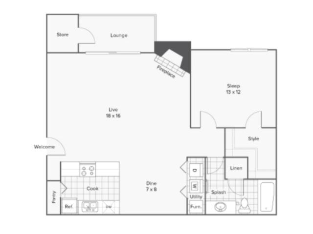 Floor Plan   ReNew Cross Creek Apartment Homes for Rent in St. Louis MO 63125