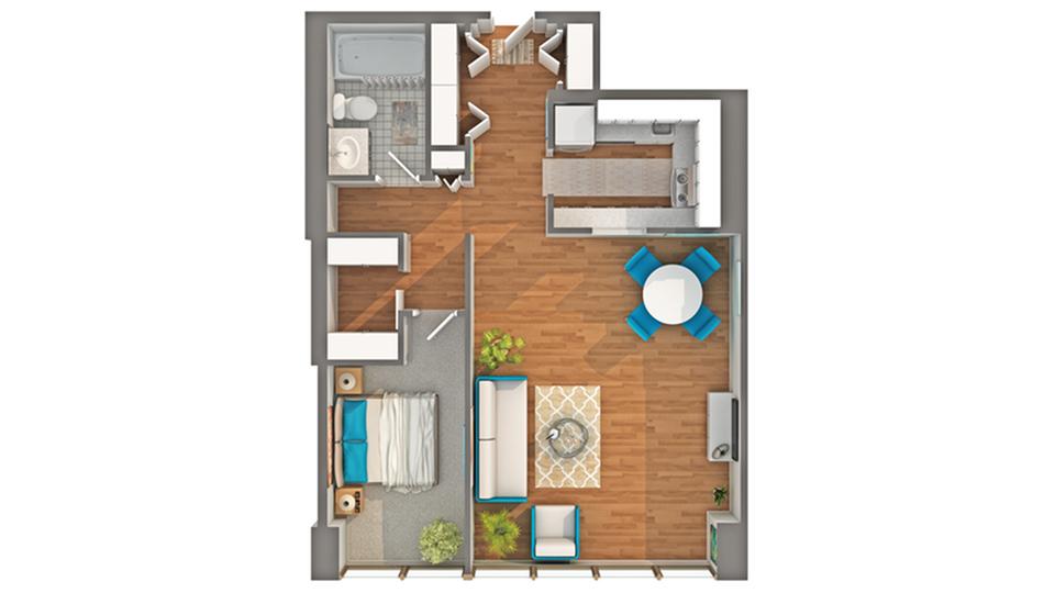 Floor Plan Images | Arrive Streeterville