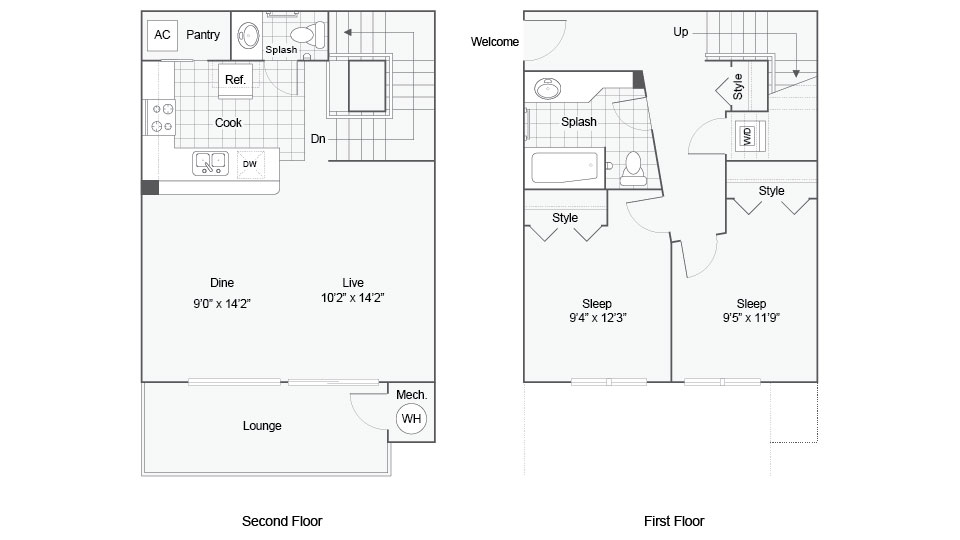 Floor Plan Images | ReNew Bayshore Townhomes