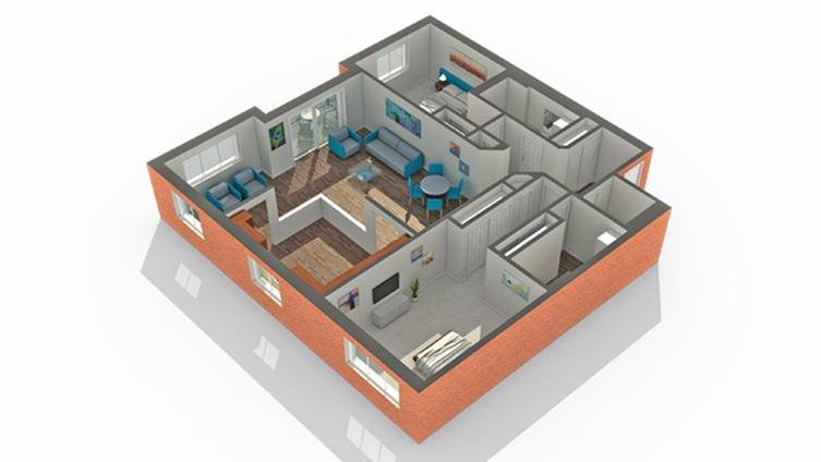 Floor Plan 13   Apartment in Vernon Hills IL   Arrive Town Center