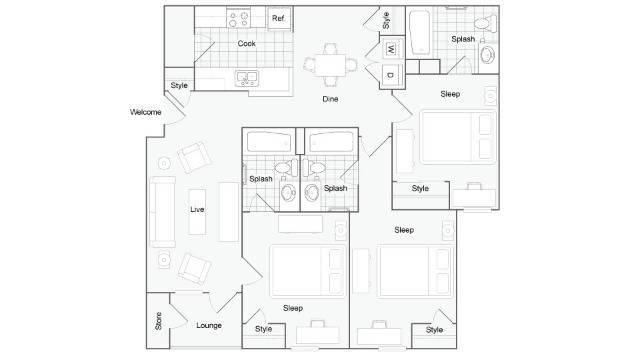 Floor Plan Images | The Social Murph