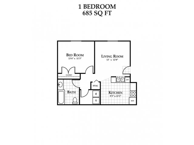 Floor Plan | Featherstone Village Apartments