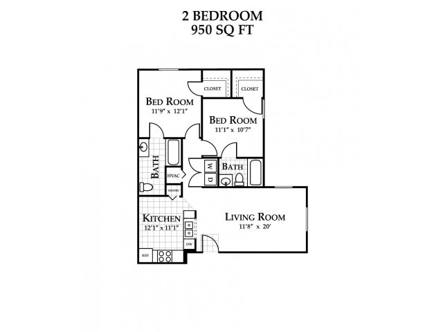 Floor Plan 3 | Featherstone Village Apartments
