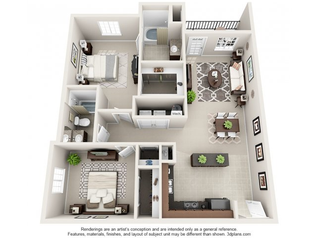 Camelot 3-D Floor Plan
