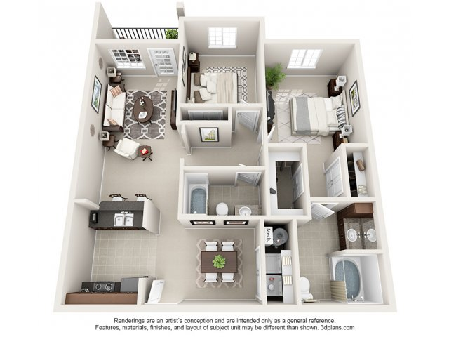 Holderness 3-D Floor Plan