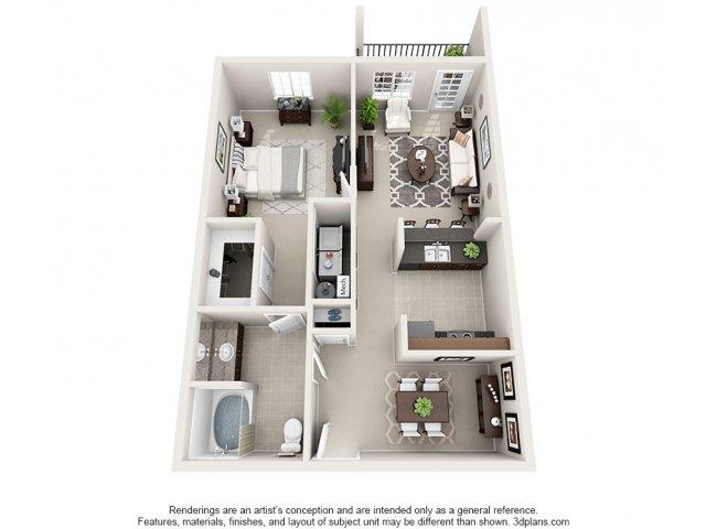 Sunstone 3-D Floor Plan