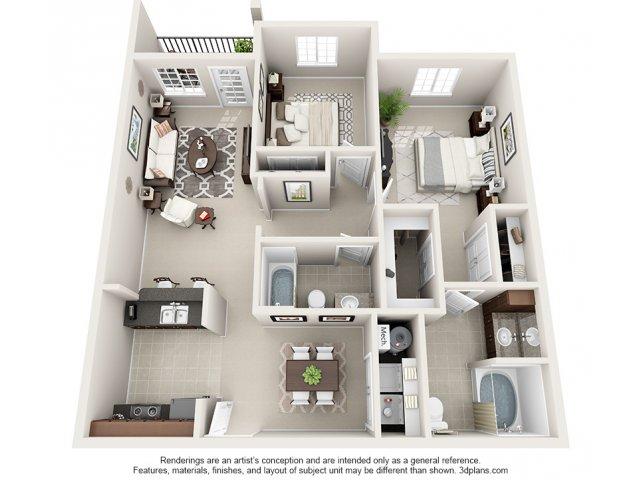 Sapphire 3-D Floor Plan