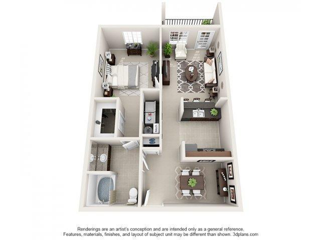 Aspen 3-D Floor Plan