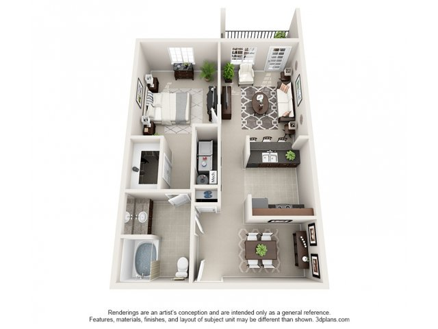 Beechwood 3-D Floor Plan