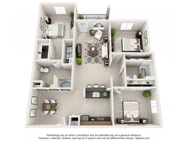 Juniper 3-D Floor Plan
