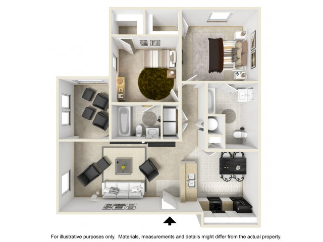 2 bedroom 2 bath apartment. for the 2 Bedroom with Sunroom floor plan  Bed Bath Apartment in Winston Salem NC Alaris Village