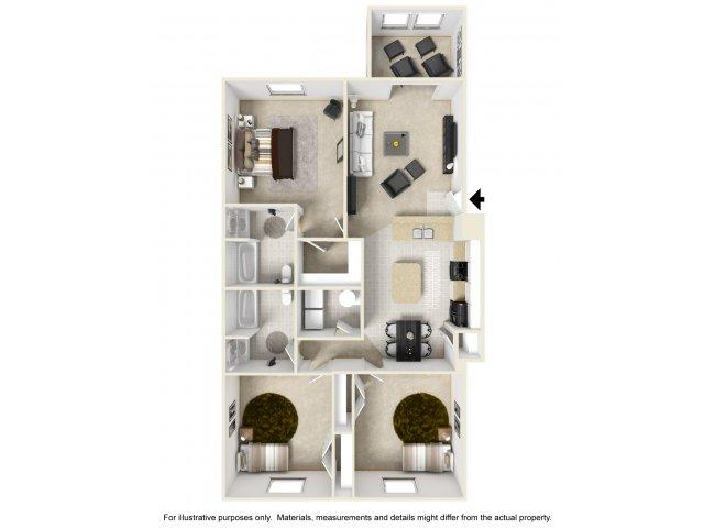 4 Bedroom Floor Plan | Alaris Village Apartments5