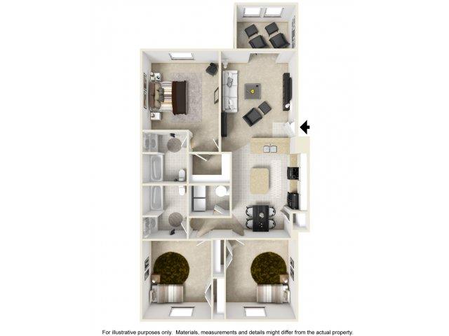 3 Bedroom - 3-D Furnished