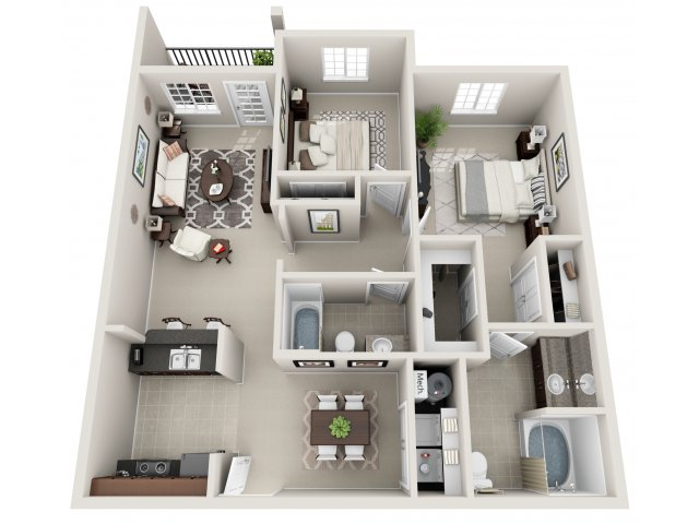 Sandalwood 3-D Floor Plan
