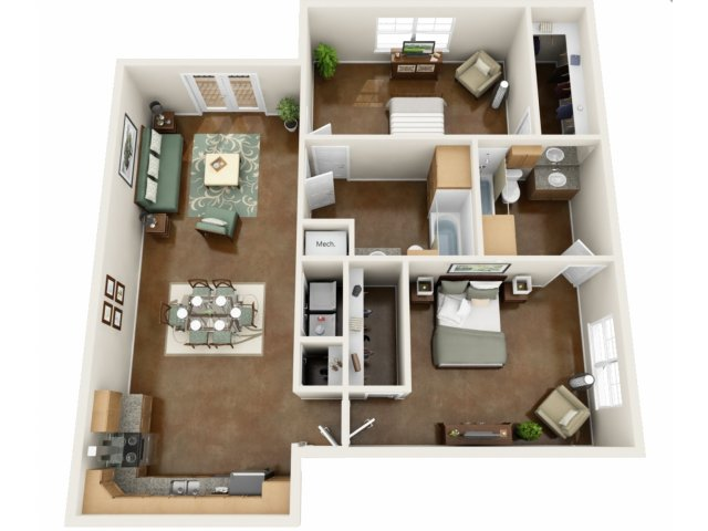 Floor Plan 2 | NorthPoint at 68 2