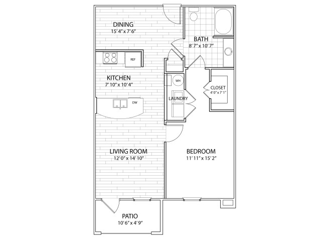 Summit: 802 Sq Ft One Bedroom, One Bath