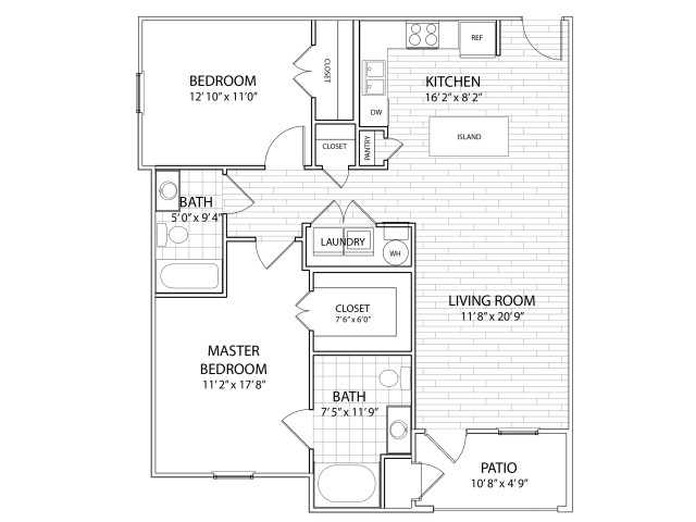 Palisade: 1065 Sq Ft Two Bedroom, Two Bath