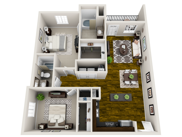 for the Harmony floor plan. 2 Bed   2 Bath Apartment in Raleigh NC   Bacarra