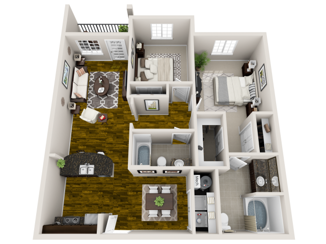 Emory 3-D Floor Plan