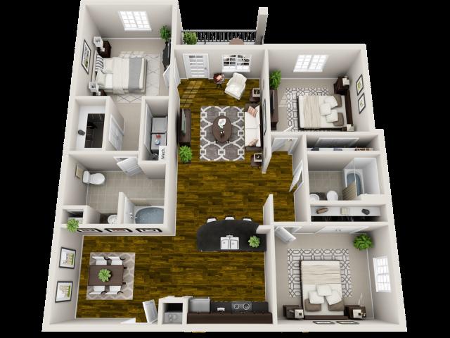Three Bedroom Apartment in Murfreesboro