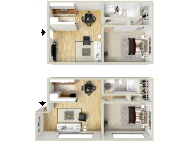 1 bedroom, 1 bathroom apartment Virginia Beach, VA