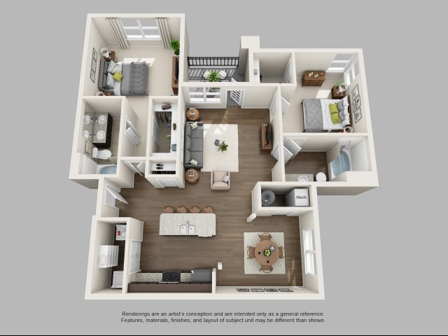 2 Bedroom Floor Plan | Infinity at Centerville Crossing2