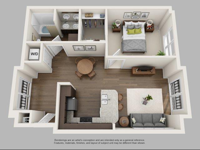 1 Bedroom Floor Plan   Infinity at Centerville Crossing3. 1 Bedroom Apartments In Virginia Beach   Infinity at Centerville